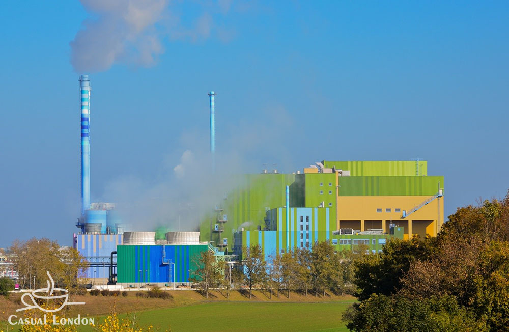 A waste incinerator in Germany